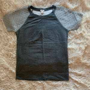 j crew top cushioned sleeves